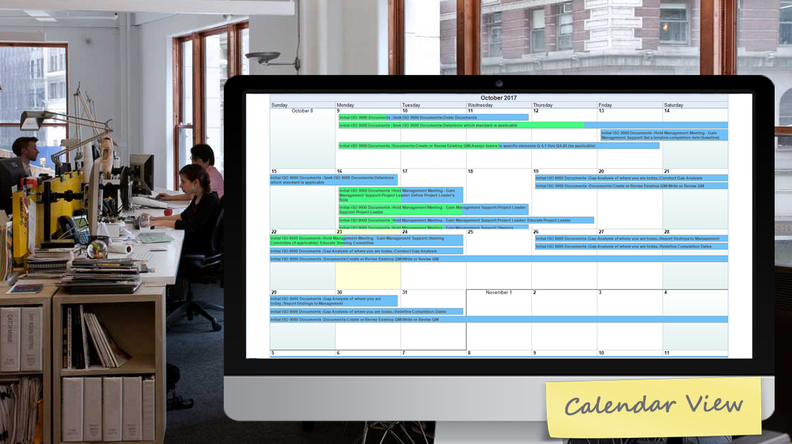 FastTrack Calenda View Sample